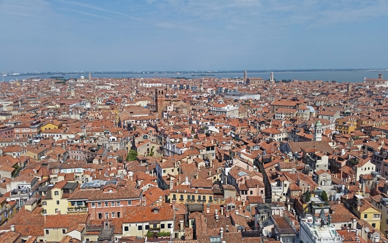 view of rooftops in Venice