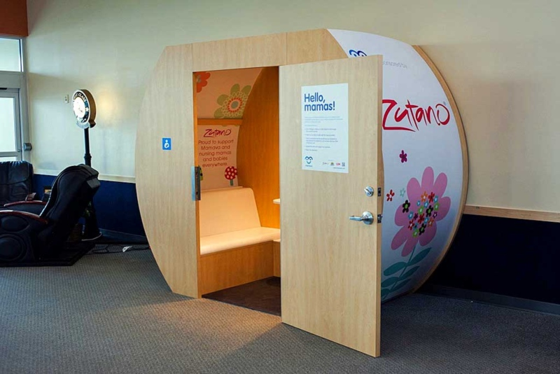 inside of a nursing pod