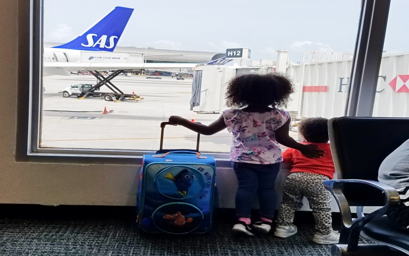 Scandinavian Airlines with Kids