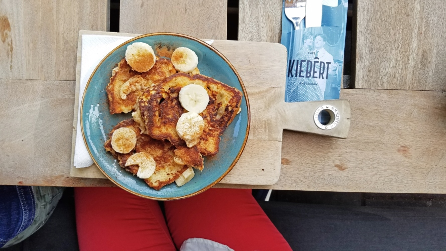 a plate of french toast