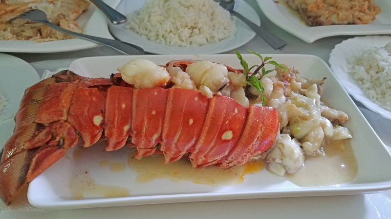 plate of lobster tail
