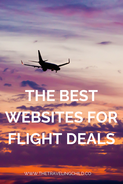picture of plane that reads the best websites for flight deals