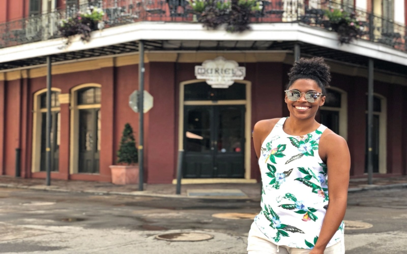 48 Hours in New Orleans black women standing the Jackson Square in New Orleans