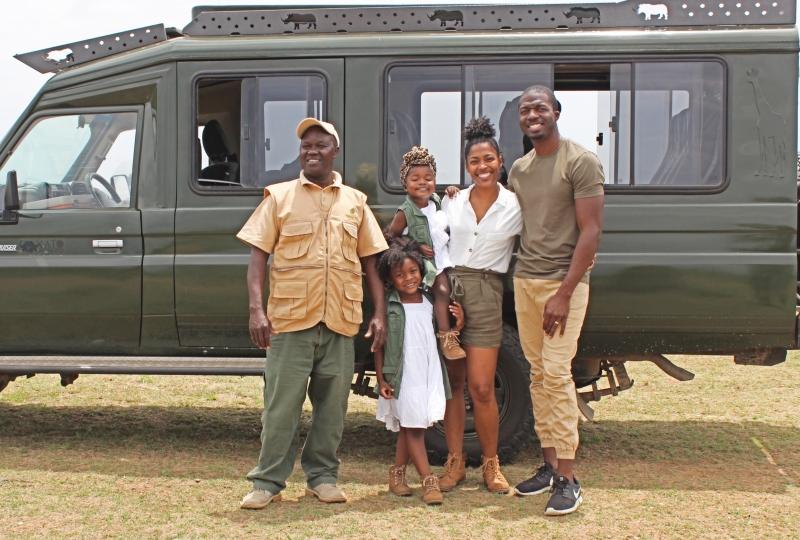 African family safari in Maasai Mara