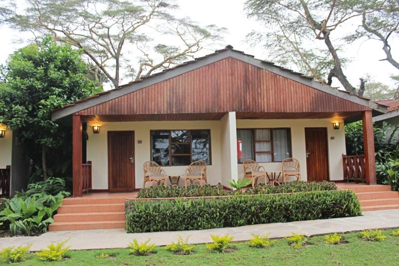 Outside of the lodge at Lake Naivasha Country Club