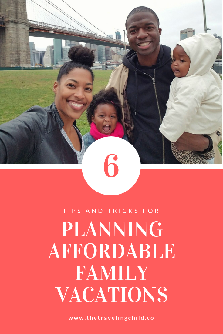 Traveling as a family has often been seen as a luxury. While being able to travel is definitely a blessing the myth that you have to be rich to travel as a family is false. Will you have to make some sacrifices? Most likely! Will you have to get creative and be flexible? Yes, but it's possible. Here are 6 tips to plan an affordable family vacation.