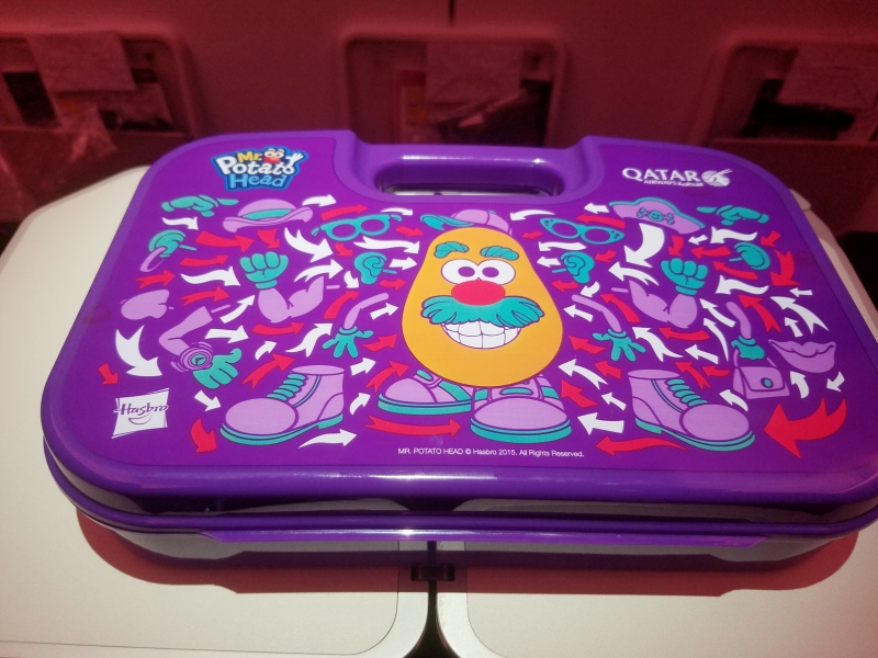 Mr. Potato head purple kids lunch box