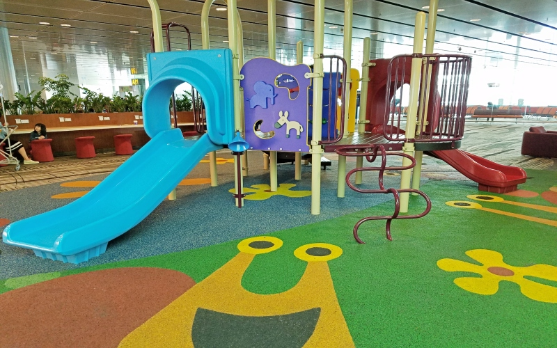 Playground inside of an airport