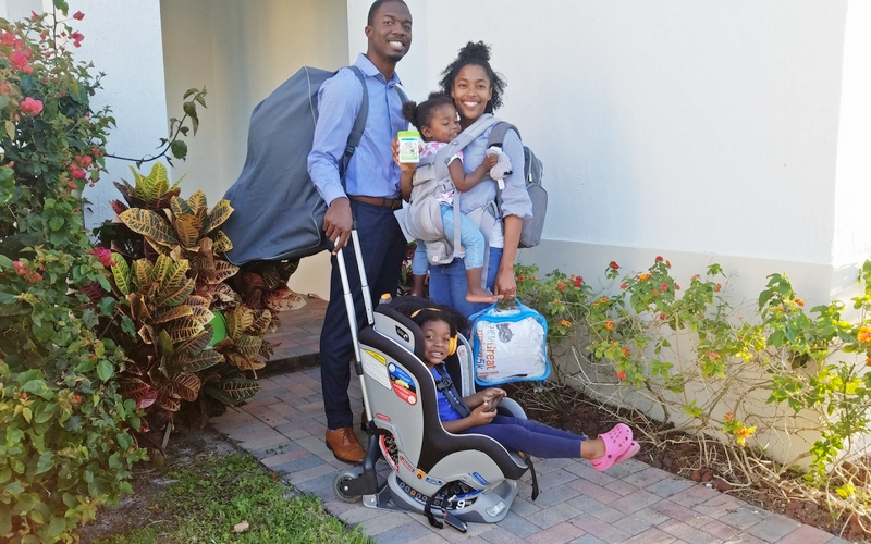 black family traveling