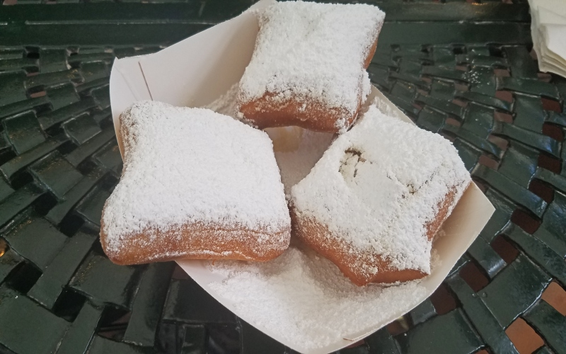 plate of beignets