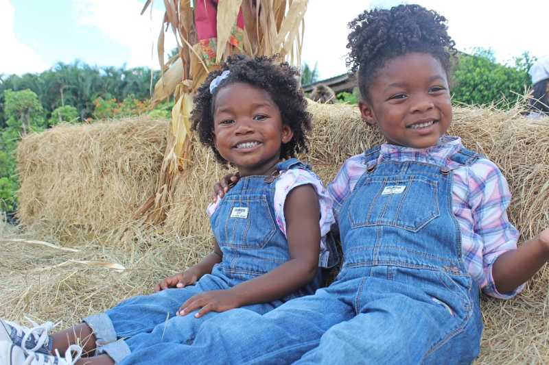 OshKosh B'Gosh Overalls Day Black Girls on Hayride