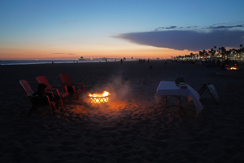 beach bonfire huntington beach, california