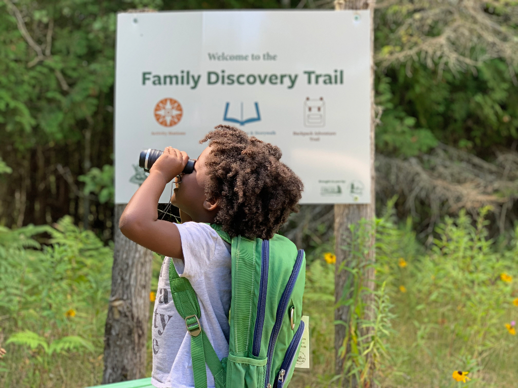 The ridges sanctuary hiking trail in door county, WI one of the many fun things to do with kids in door county.