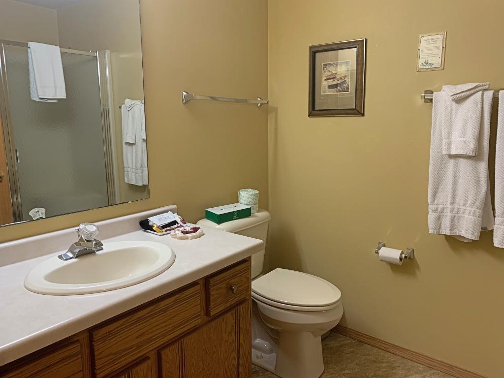 Bathroom of Newport Resort in Door County.