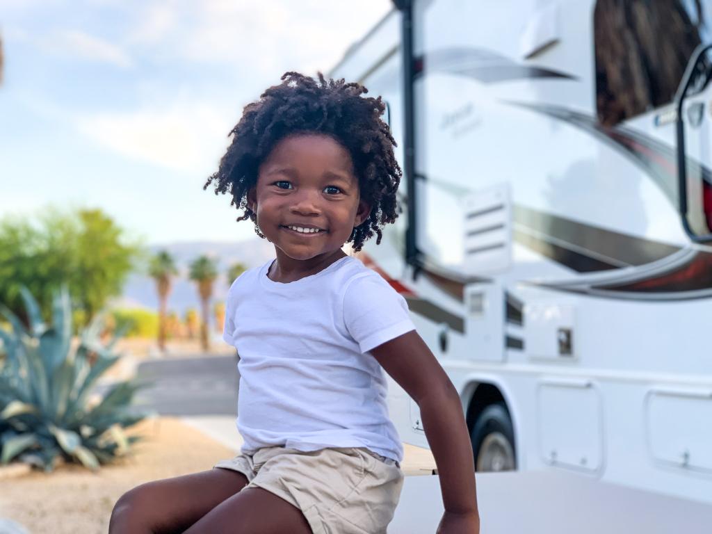 black RVer family travel