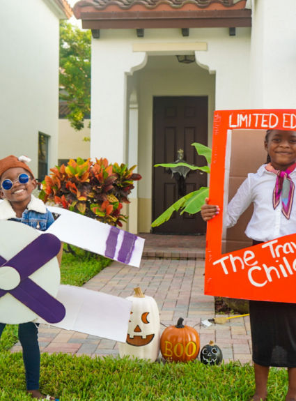 "How to Create DIY Travel Themed Halloween ""Boxtumes"" With Amazon Prime Boxes"