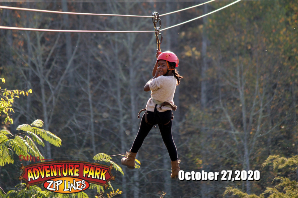 zip-lining in pigeon forge with kids