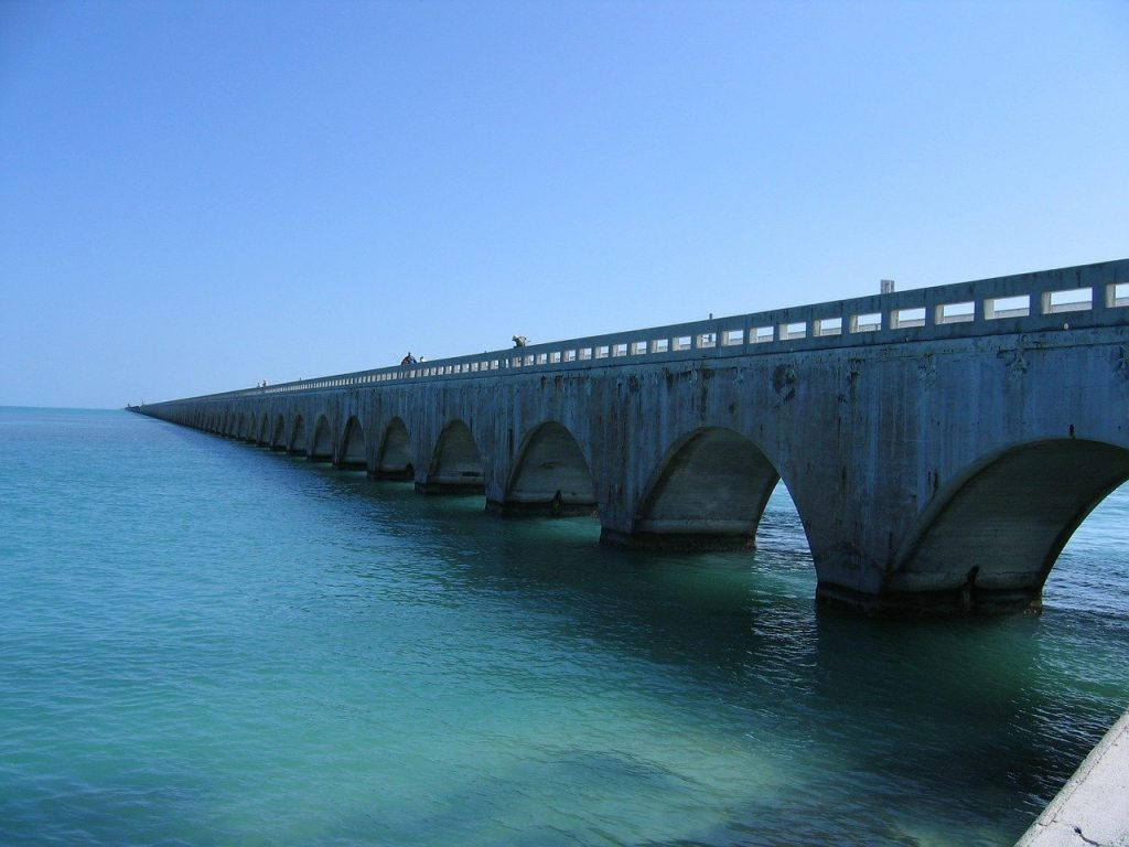 The overseas highway is a road and or very long bridge built on the turquoise waters of the Florida keys. It is called the road to paradise because it is so beautiful and is one of the most amazing and scenic drives in the US.